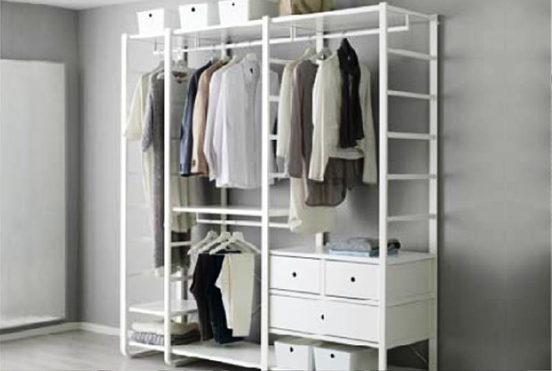 Clothing Rack IKEA Closet System Ideas