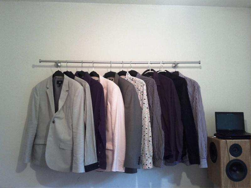 Image of: Clothing Rack IKEA Hanging On The Walls