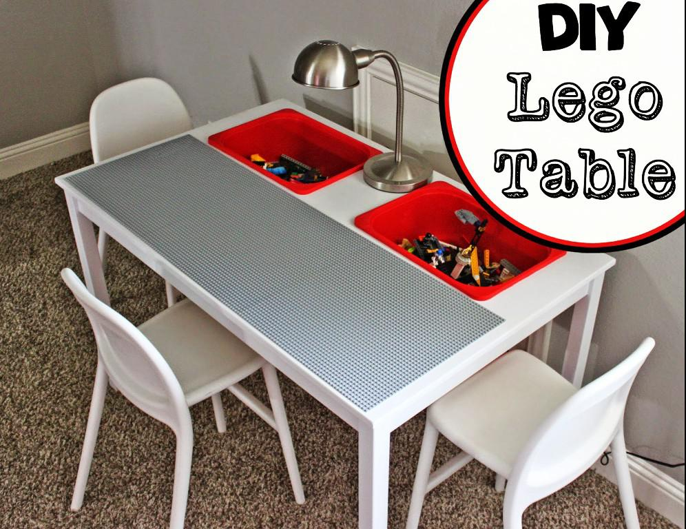 Image of: DIY Lego Table With Storage IKEA