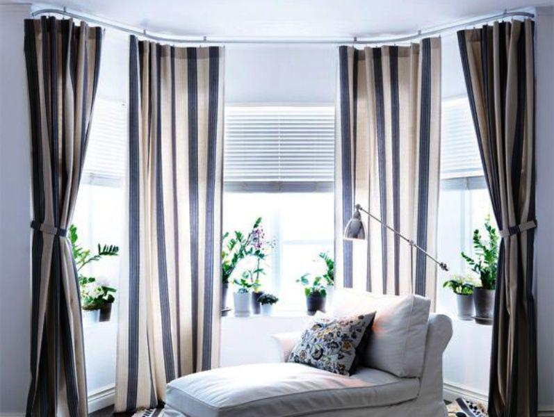 Image of: IKEA Curtain Rods That Hang From Ceiling