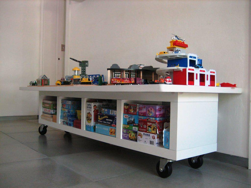 Image of: IKEA Lego Table With Storage