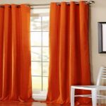IKEA Orange Curtains