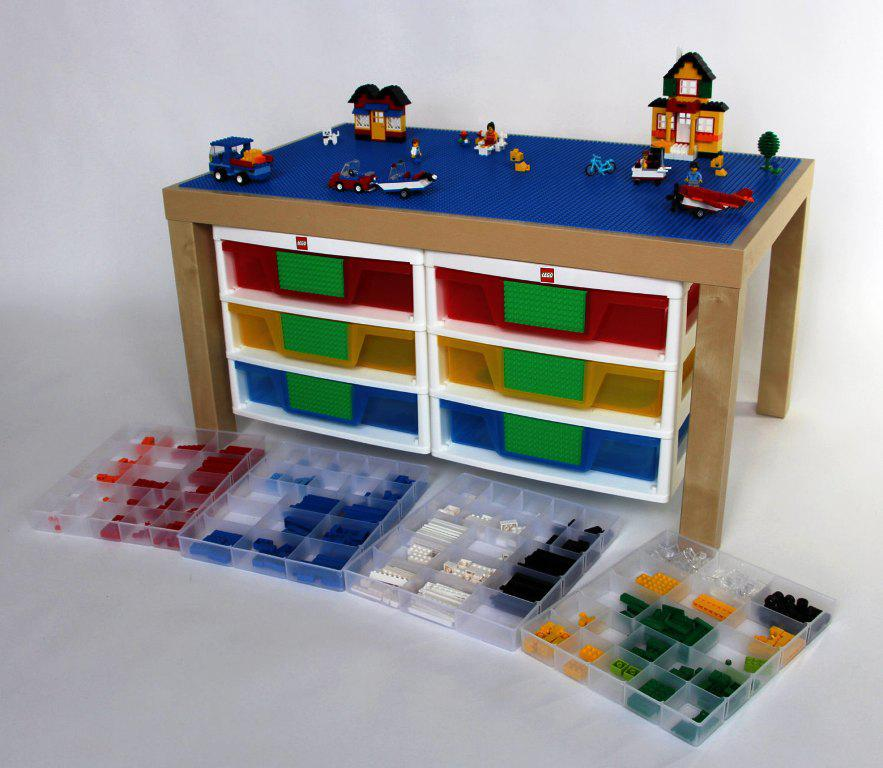 Lego Table IKEA Hack Trofast