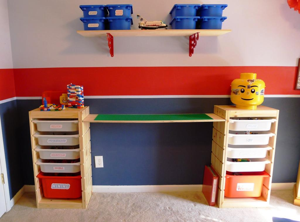 Image of: LEGO Tables With Storage IKEA
