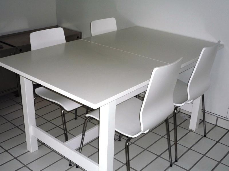White IKEA Kitchen Chairs And Table Set