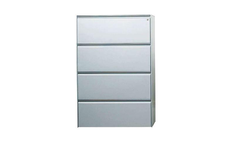 White Metal Lateral File Cabinet
