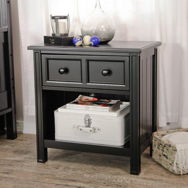 Black Nightstand IKEA