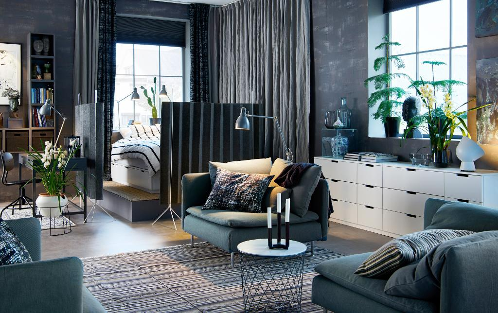 Image of: Blackout Curtains IKEA Living Room Shades