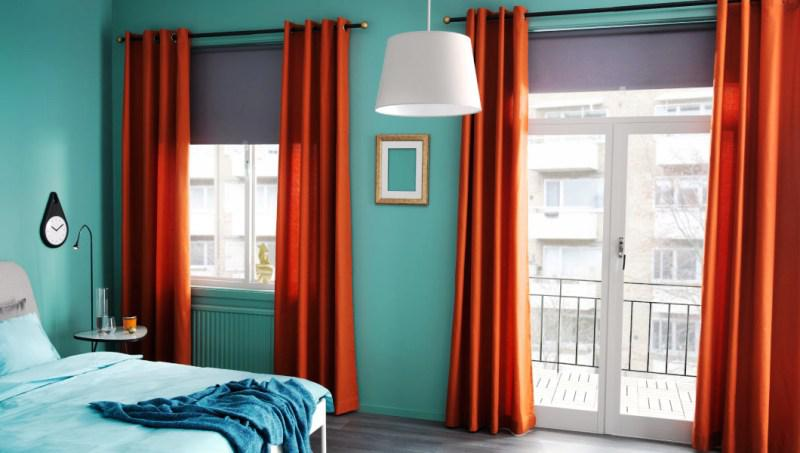 Blackout Curtains IKEA MAJGULL Orange