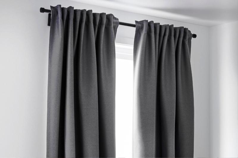 Blackout Curtains IKEA MARJUN Grey
