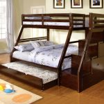 Cherry Wood Twin Over Queen Bunk Bed IKEA