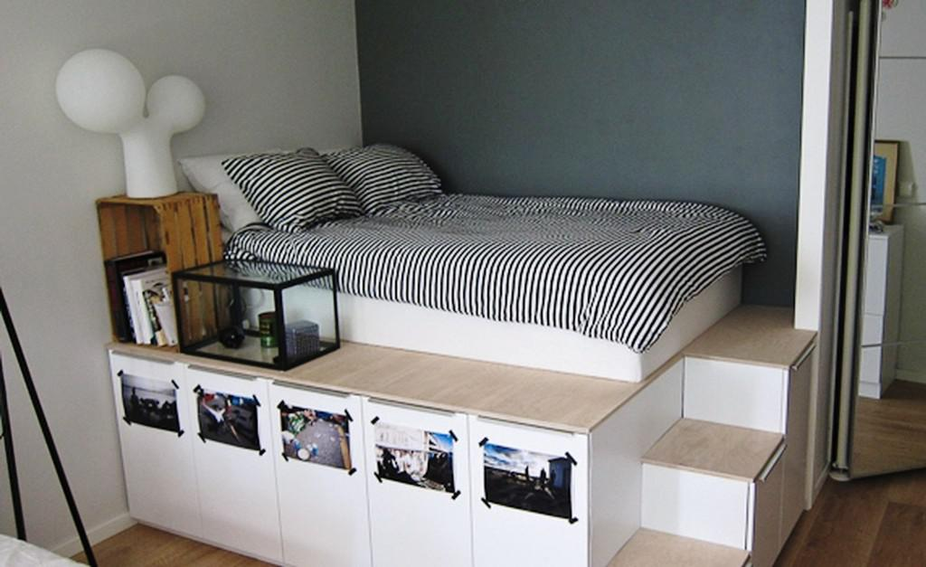 IKEA Brimnes Bed W Storage