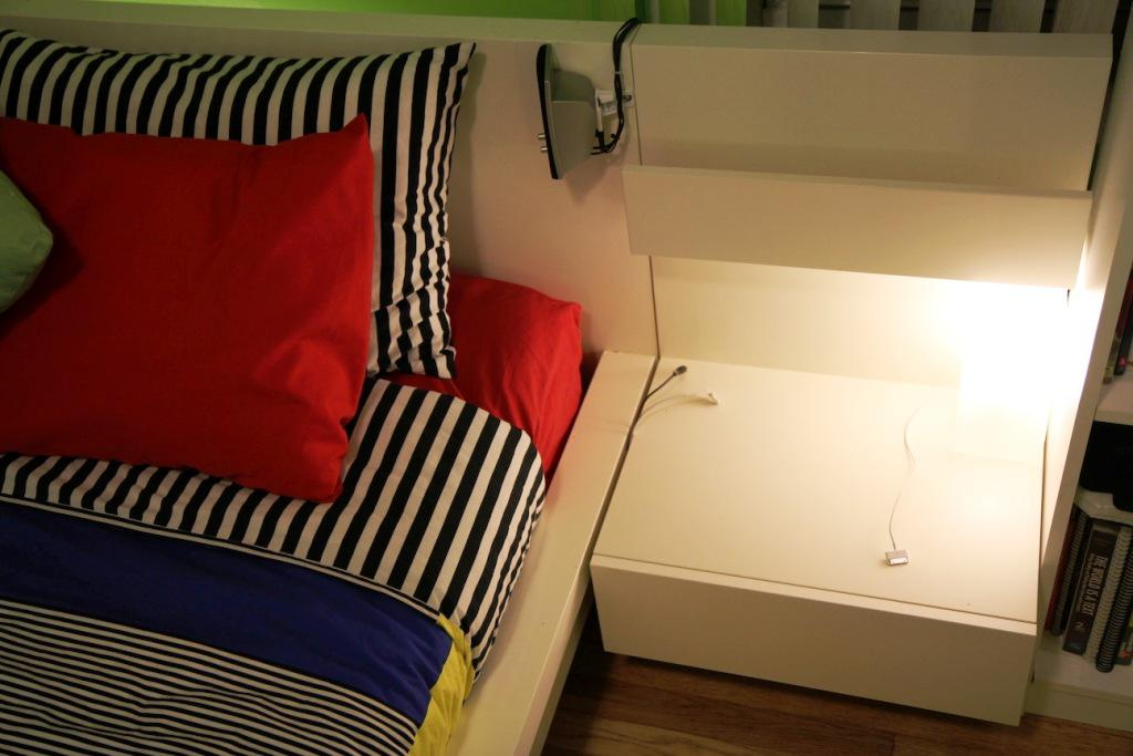 IKEA Malm Bed With Attached Nightstands