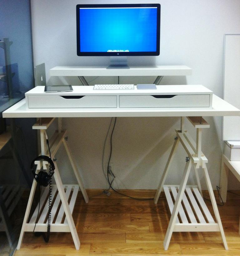 IKEA White Computer Desk