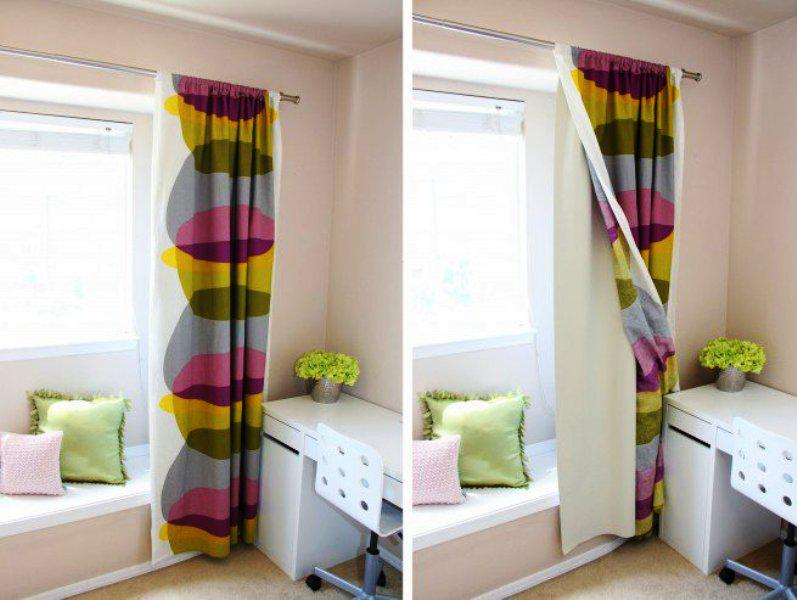 Image of: Multicolor Blackout Curtains IKEA