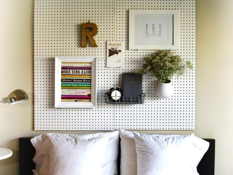 Pegboard IKEA Bedroom