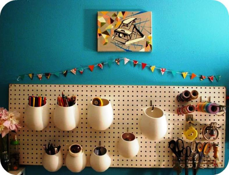 Pegboard IKEA Combination Storage Ideas
