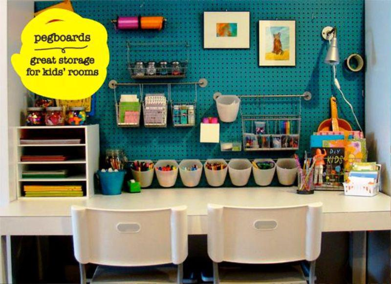Pegboard IKEA Craft Room