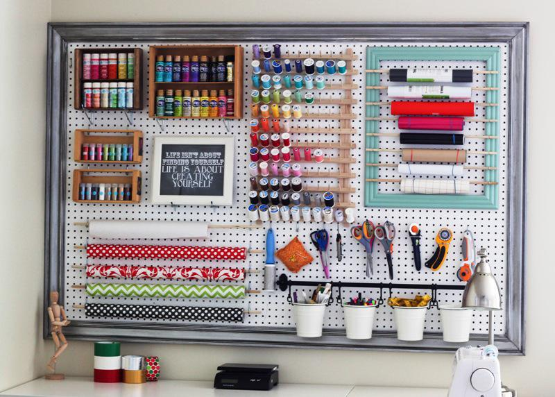 Pegboard IKEA Organization Ideas