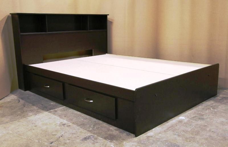 Queen Platform Bed With Storage