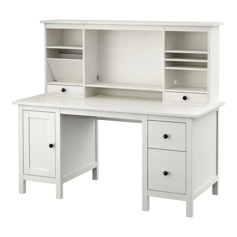 White Desk With Hutch IKEA