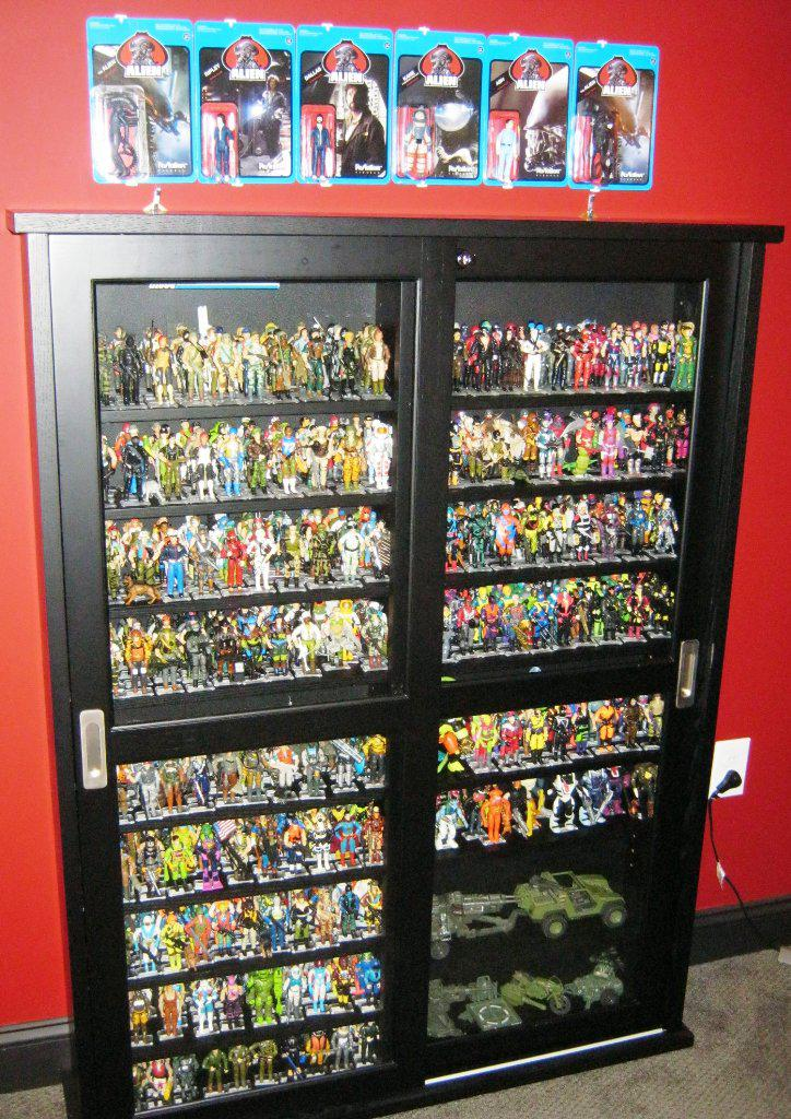 Image of: Action Figures IKEA Display Case