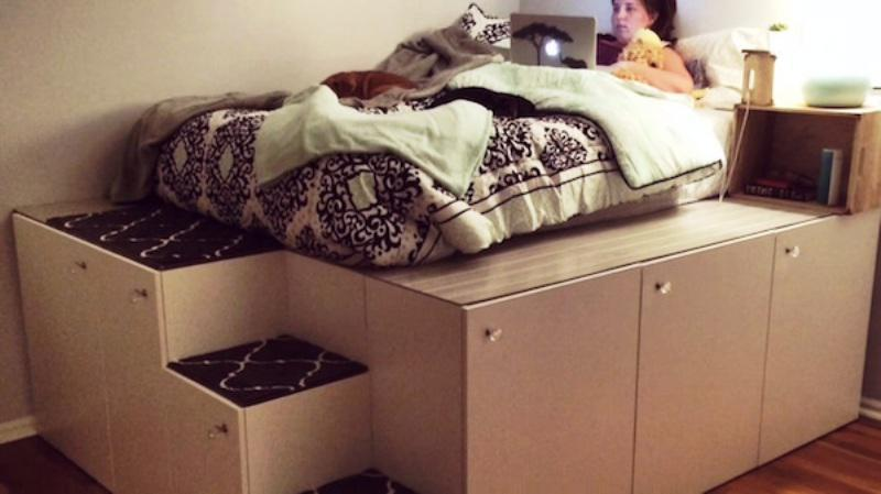 Image of: Awesome Cabinet Bed IKEA
