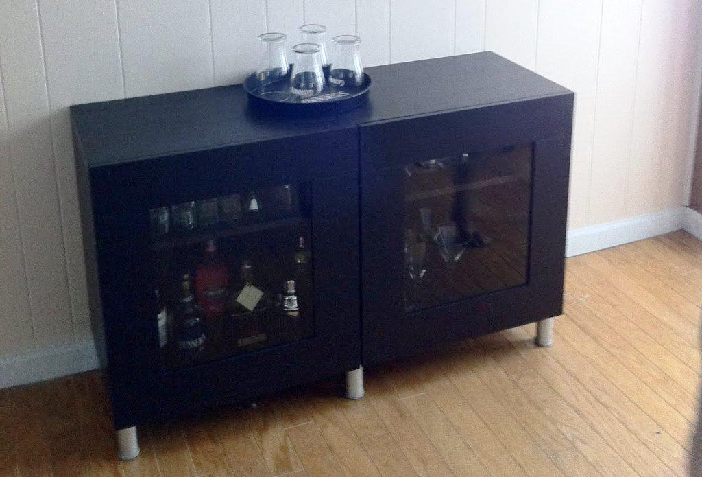 Freestanding Liquor Bar Cabinet IKEA Design Ideas