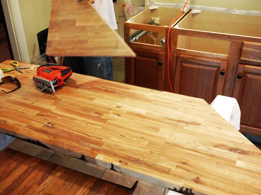 How To Install Butcher Block Countertops From IKEA