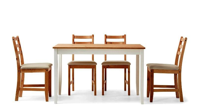 Image of: IKEA Dining Chairs And Table Sets