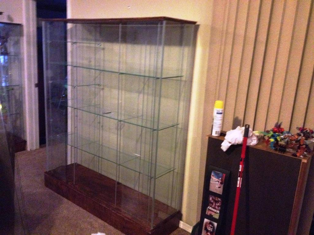 Image of: IKEA Display Case Glass