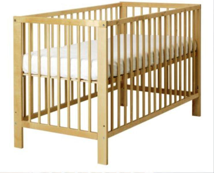 IKEA GULLIVER Crib Birch Wood