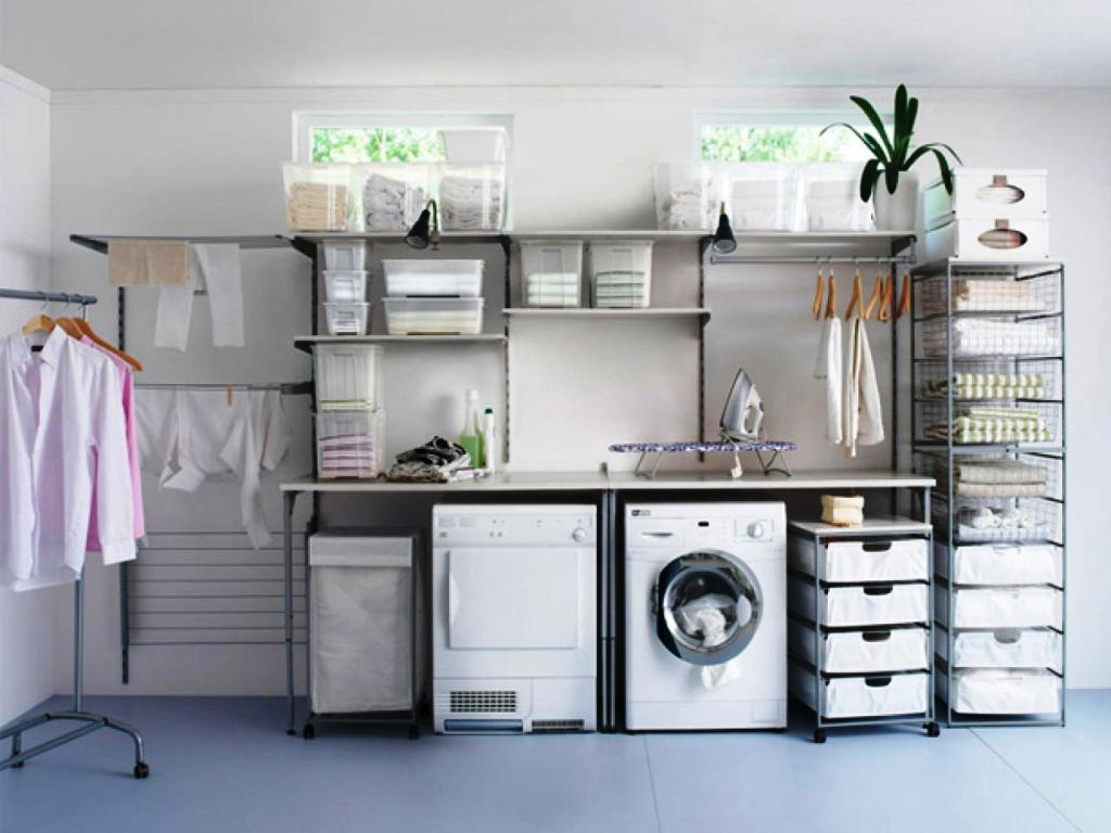 IKEA Laundry Room Shelves