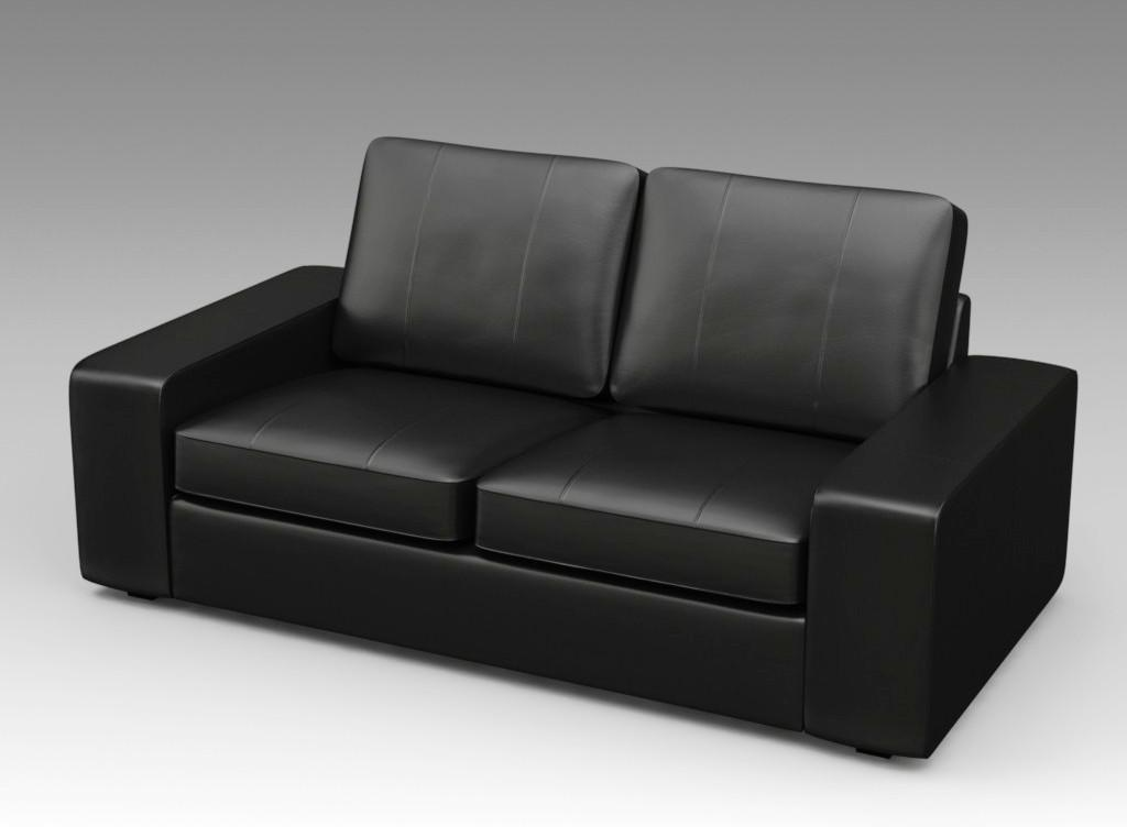 IKEA Leather Couch KIVIK Bomstad Black