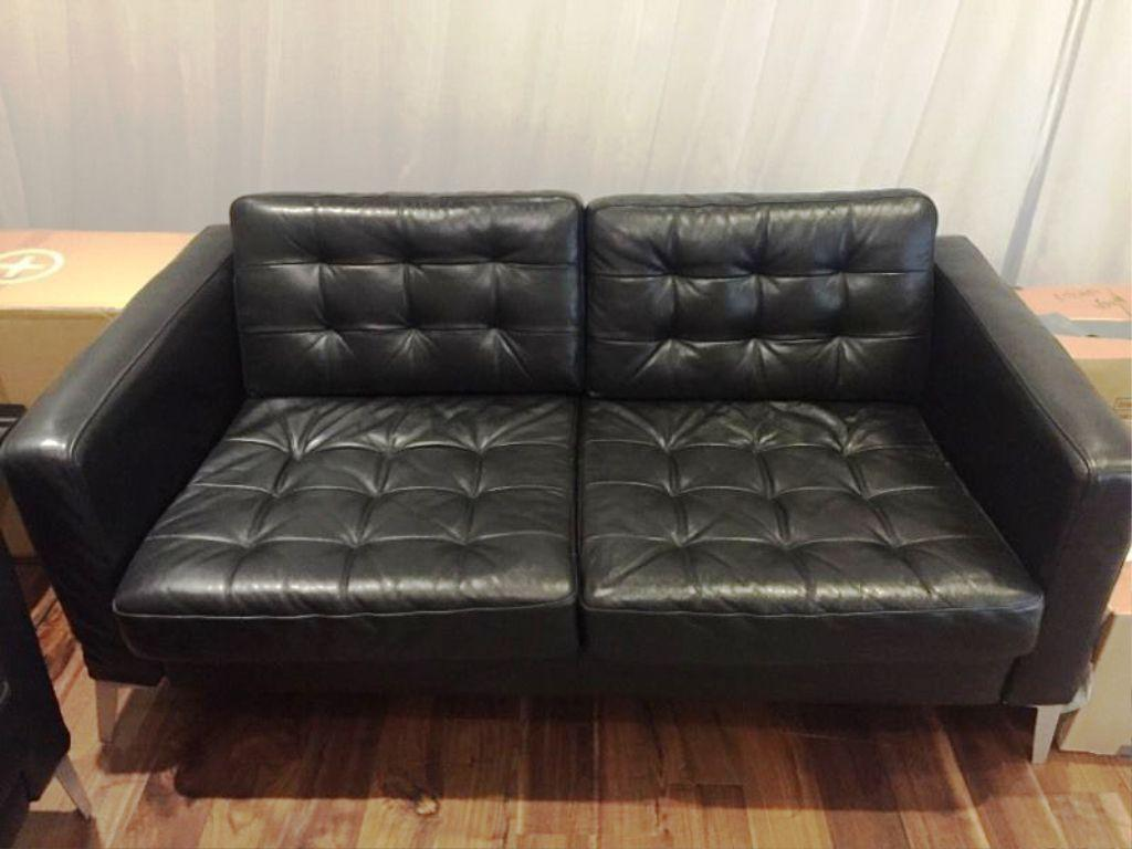 IKEA Leather Couch LANDSKRONA Sectional