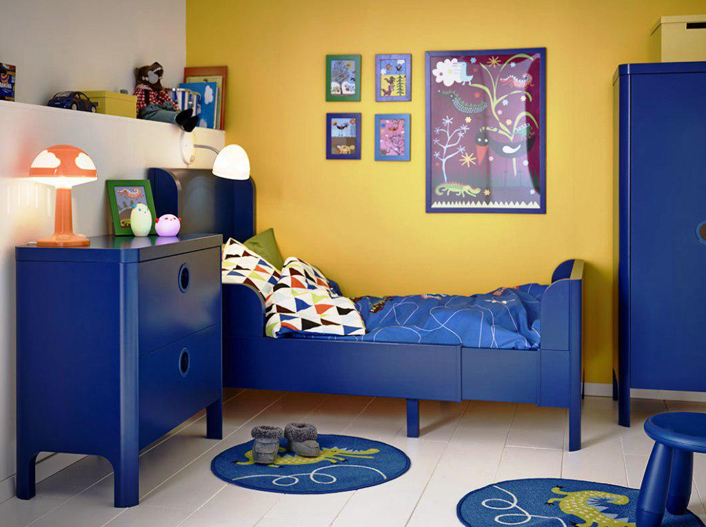 IKEA Mammut Blue Bedroom Set
