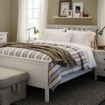 IKEA White Bedroom Furniture Bed Frame