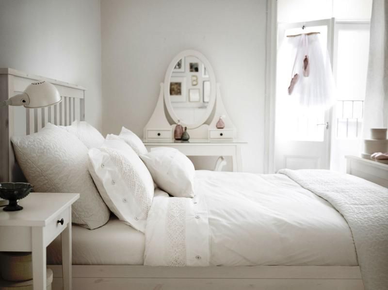 IKEA White Bedroom Furniture Decor Ideas