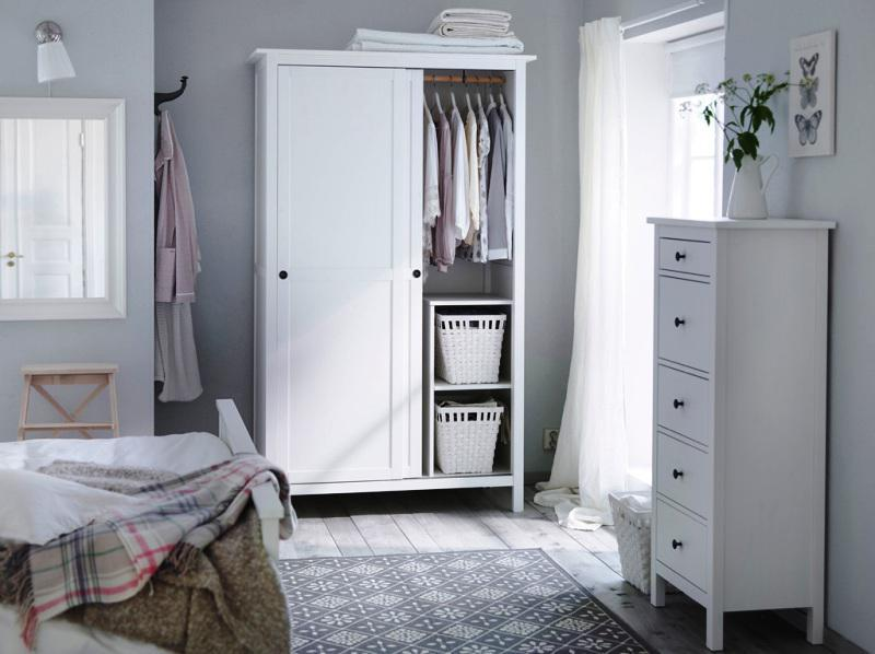 IKEA White Bedroom Furniture Wardrobe