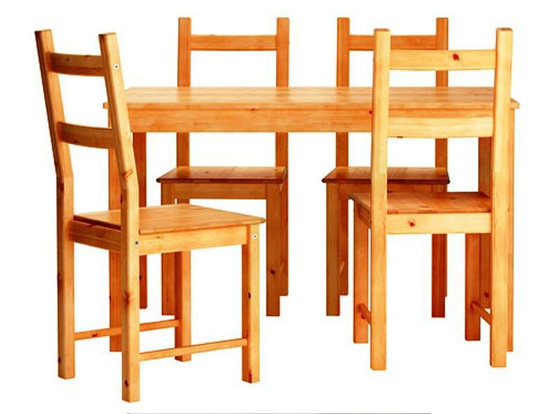 Inexpensive IKEA Dining Chairs Pine Wood INGO IVAR £99
