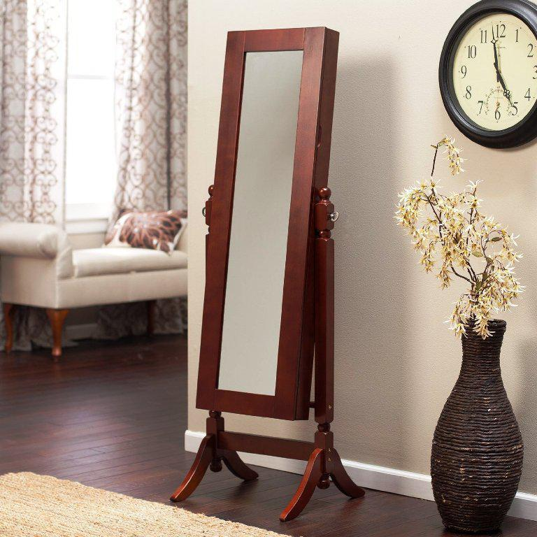 Jewelry Armoire Furniture Mirror IKEA