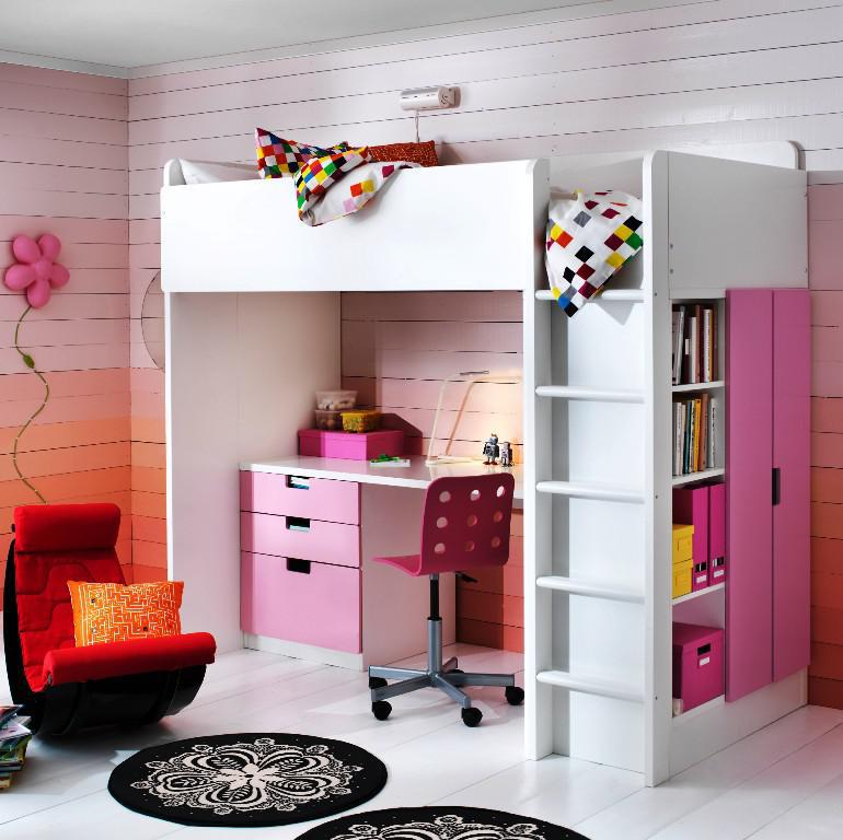 Image of: Kids Bunk Beds With Desk IKEA