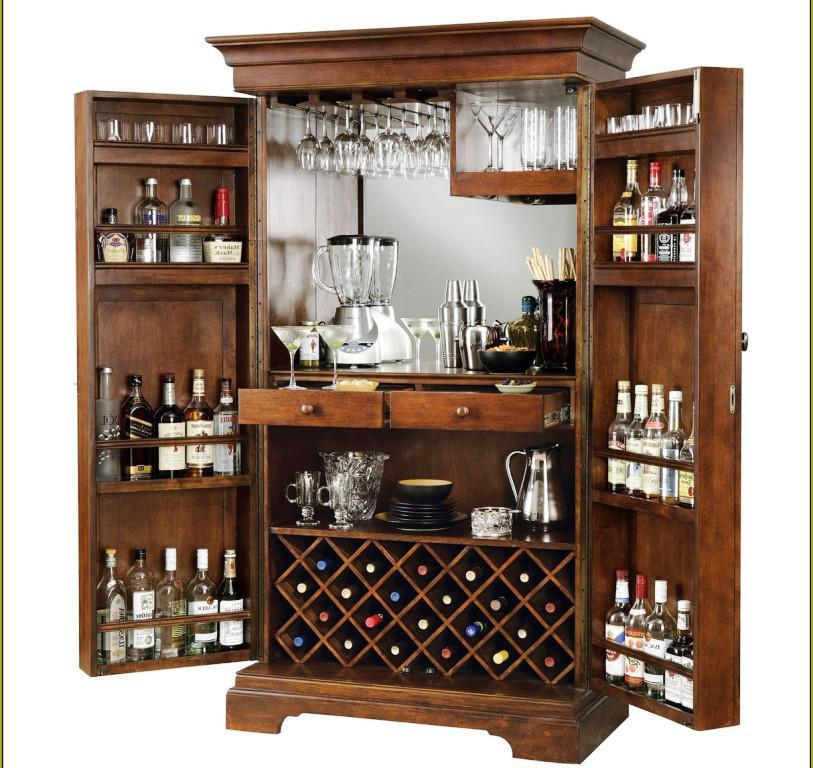 Locking Bar Cabinet IKEA Design Ideas