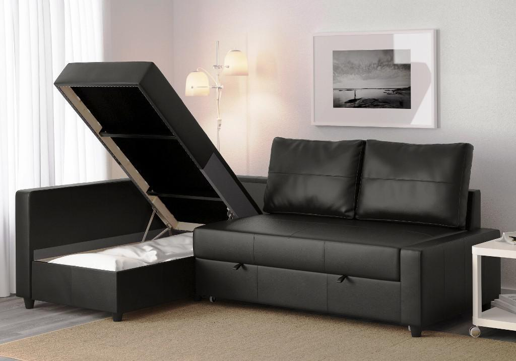 Modern Contemporary IKEA Leather Couch