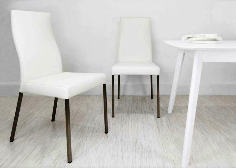 Image of: Modern IKEA Dining Chairs White