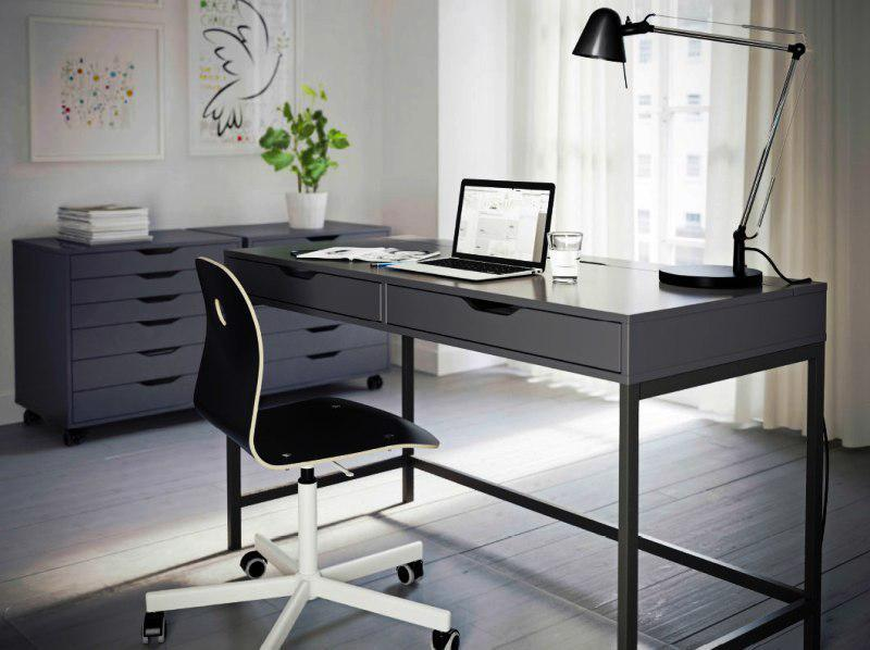 Modern IKEA Office Furniture Desk And Chair Set