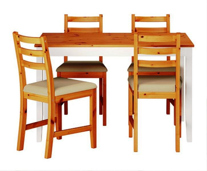 Oak Wood IKEA Dining Chairs Contemporary Styles