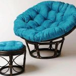 Papasan Chair IKEA With Footstool