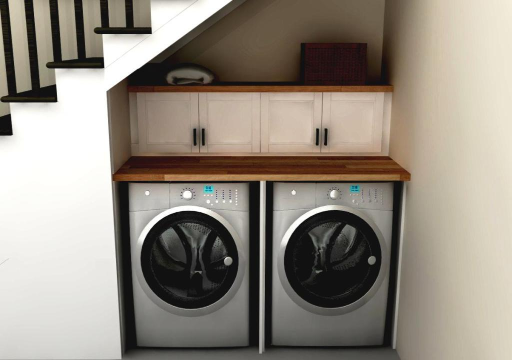 Small IKEA Laundry Room
