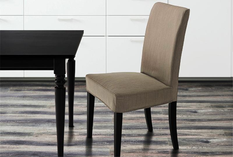 Image of: Upholstered IKEA Dining Chairs Sale